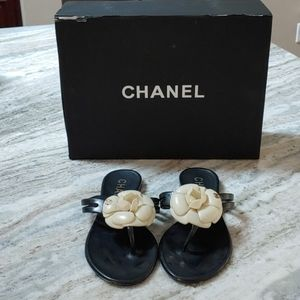 Channel jelly sandals